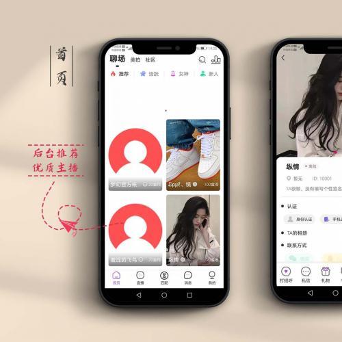 直播一对一语音聊天视频源码开发1v1一对多直播交友同城交友app